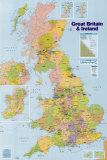 Kaart van de Britse eilanden Poster