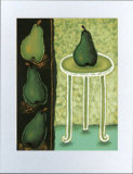 Green Pears II Prints by Monica Ibanez