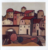 Houses I Prints by Victor Moreno
