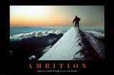 Ambitioner, på engelsk Poster