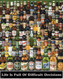 Botellas de cerveza (decisiones) Poster