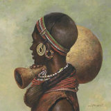 African I Prints by Joaquin Moragues