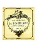 Beaujolaise Wine Label Giclee Print