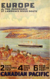 Europe by the Panoramic Saint-Lawrence River Route Prints