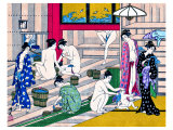 Women in Public Bathhouse Giclee Print