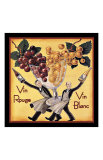 Vin Rouge Vin Blanc Giclee Print by Kate Ward Thacker