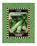 Leek Seed Pack Giclee Print