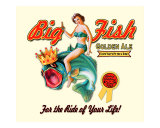 Big Fish Golden Ale Giclee Print