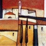 Village at Sunset Prints by Nicola Resmini