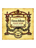 Pinot Noir Wine Label Giclee Print
