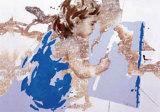 Girl Painting Kunst von Pedro Velvere