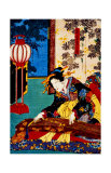 Woman Playing Koto Giclee Print