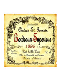 Bordeaux Wine Label Giclee Print