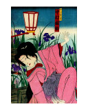 Edo Woman in Iris Patch Giclee Print