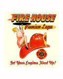 Fire House Lager Giclee Print