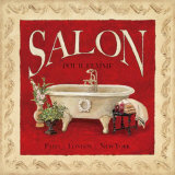 Salon pour Femme Print by Charlene Winter Olson