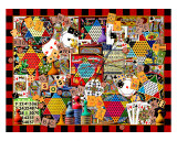 Cards Dice and Game Boards Giclee Print by Kate Ward Thacker