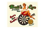 Bull's Eye Premium Beer Giclee Print