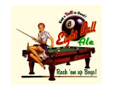 Eight Ball Ale Giclee Print