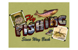 Fly Fishing Giclee Print by Kate Ward Thacker