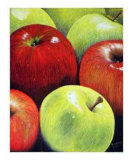 Red and Green Apples Giclee Print by Dolores Nast