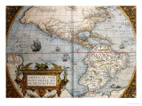 Map of America from Theatrum Orbis Terrarum Poster by Abraham Ortelius