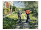 The Path Uphill Reproduction procédé giclée par Gustave Caillebotte