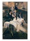 The Sweethearts Lunch Giclee Print by Giovanni Boldini