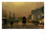 Liverpool Docks Prints by John Atkinson Grimshaw