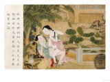A Chinese Erotic Painting Depicting an Amorous Couple Engaged in Lovemaking Giclee Print
