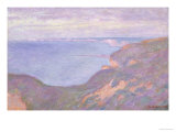 The Cliffs Near Dieppe Giclee Print by Claude Monet