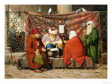 A Turkish Notary Drawing up a Marriage Contract, Constantinople, 1837 Giclee Print by Martinus Rorbye
