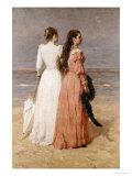Elegant Women on a Beach Giclée-Druck von Isidore Verheyden