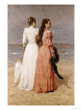 Elegant Women on a Beach Giclee Print by Isidore Verheyden