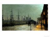 John Atkinson Grimshaw - Humber Dockside, Hull Digitálně vytištěná reprodukce