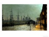 Humber Dockside, Hull Prints by John Atkinson Grimshaw