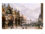 St. Mark's and the Doge's Palace, Venice Prints by Carlo Grubacs