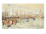 Les Sable D'Olonne Print by Paul Signac