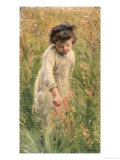 Picking Flowers Giclee Print by Bertha Wegmann