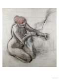 Nude Woman Wiping Herself after the Bath Reproduction proc&#233;d&#233; gicl&#233;e par Edgar Degas