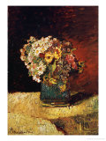 A Vase of Flowers Giclee Print by Adolphe Joseph Thomas Monticelli