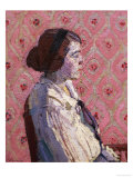 A Portrait in Profile: Mary L Giclee Print by Harold Gilman