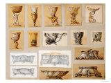 A Selection of Designs from the House of Carl Faberge Giclee Print by Carl Faberge