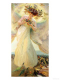 The Angel of the Birds Giclee Print by Franz Dvorak