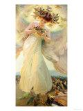 The Angel of the Birds Giclee Print by Franz Dvorak