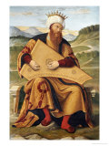 King David Playing a Psaltery Giclee Print by Girolamo Da Santa Croce
