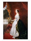 A Full Length Portrait of Empress Eugenie (1826-1920) Giclee Print by Franz Xaver Winterhalter
