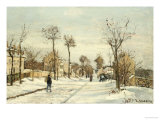 Snowy Road, Louveciennes Prints by Camille Pissarro