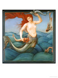 A Sea-Nymph Posters by Edward Burne-Jones