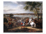 King Louis XIV of France Crossing the Rhine on 12 June 1672 Giclee Print by Adam Frans Van Der Meullen